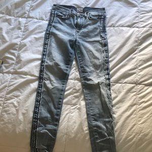 Hudson Acid Wash Denim Skinny Jeans